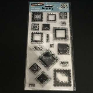 Clear Rubber Stamp D01