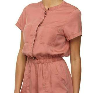 BNWT Cotton On Pink Rose Washed Romper