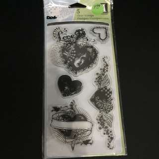 Clear Rubber Stamp D06