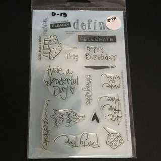 Clear Rubber Stamp D13