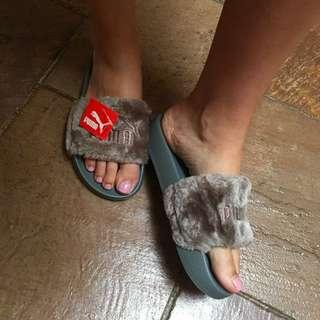 Puma Fenty Slides Grey