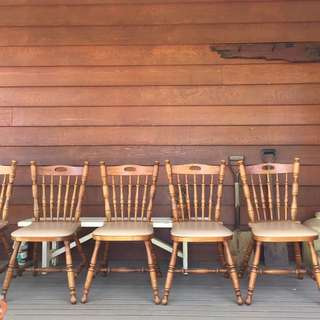 Vintage Set 6 Country Style Dining Chairs