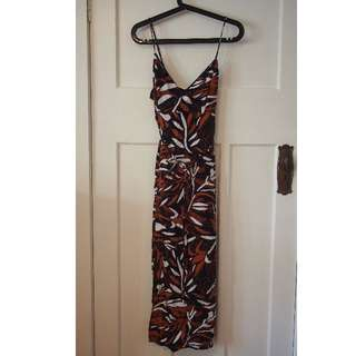 Bardot wrap blue orange and white dress size 10