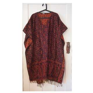 Tree of Life Poncho wool one size fits all