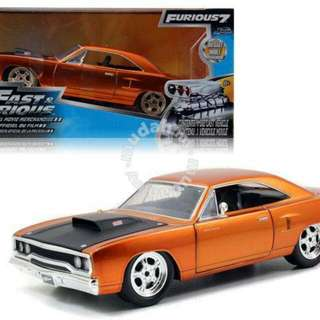 1/24 Fast & Furious 7 Dom's plymouth road runner