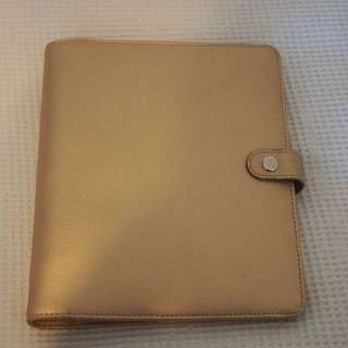 Kikki K Gold Leather Large Planner