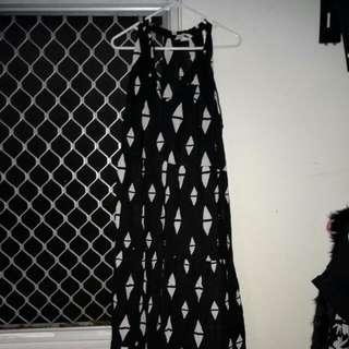 H&M Maxi Dress Size 10 Black
