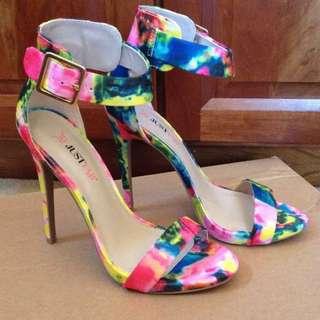 JustFab Floral Heels
