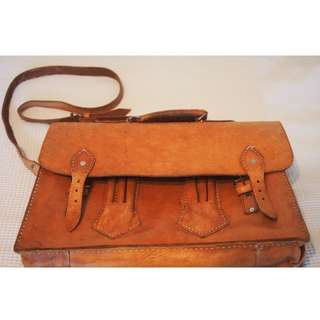 Original pure leather cross body messenger bag