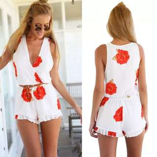 Red Rose Playsuit