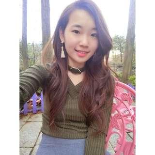 冬季新款時尚百搭雙V領性感打底衫修身顯瘦纯色長袖針織衫上衣