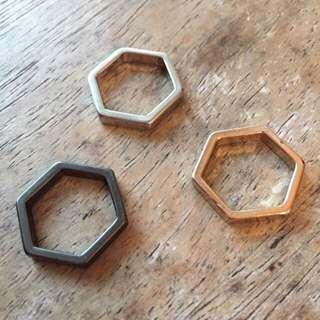 🚚 六角形 戒指