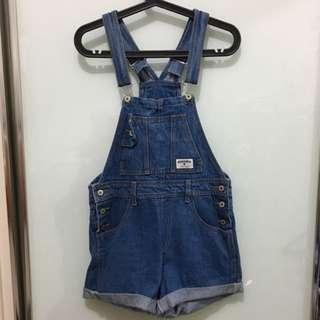 Vintage Blue Denim Overalls
