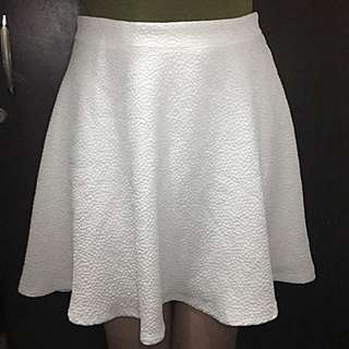 Forever21 White Skater Skirt with Price Tag