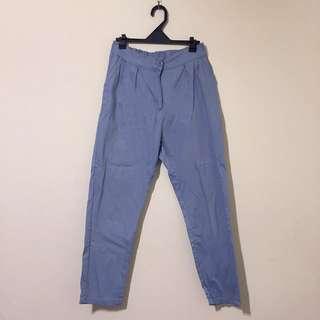 貓咪曬月亮mooncat 藍色卡其褲