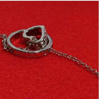 Ring and Heart Pendant Necklace Accessory