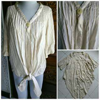Bohemian Tie Front Blouse Cover-up like Zara Topshop H&M Mango F21