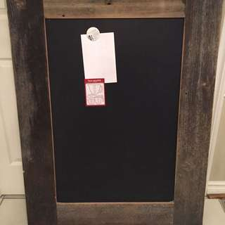 Gently Used Canadian Custom Made High Quality Barnboard Magnetic Chalkboard