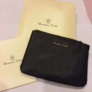 BN Authentic Massimo Dutti Embossed Leather Purse
