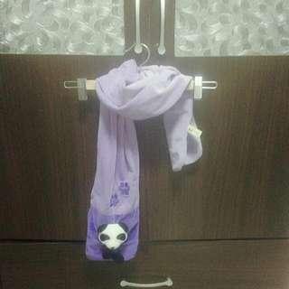 可愛日系熊貓圍巾#你喜歡我送你
