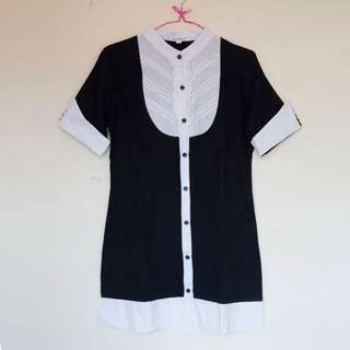 Dress Button Up | Baju Kawaii Preloved / Second / Bekas