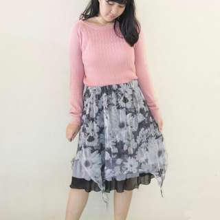 Floral Skirt | Baju Kawaii Preloved / Second / Bekas