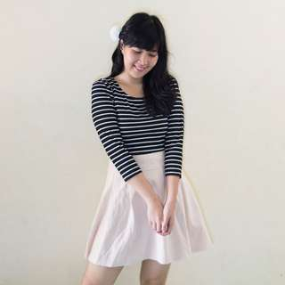 Dress Horizontal Stripe // Dress Garis | Baju Kawaii Preloved / Second / Bekas