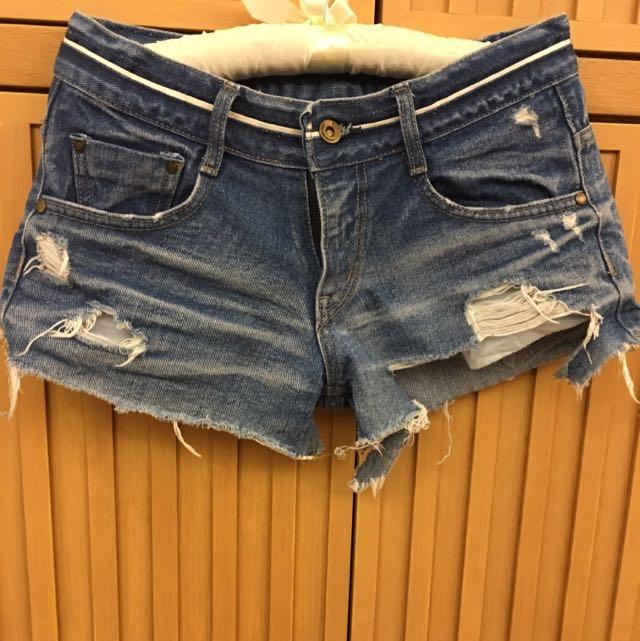 正韓牛仔短褲約25-27腰