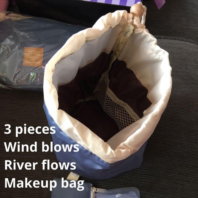 3 Piece Makeup Bag