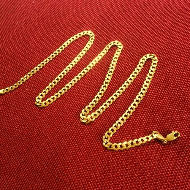 9ct 55cm Bevelled Chain