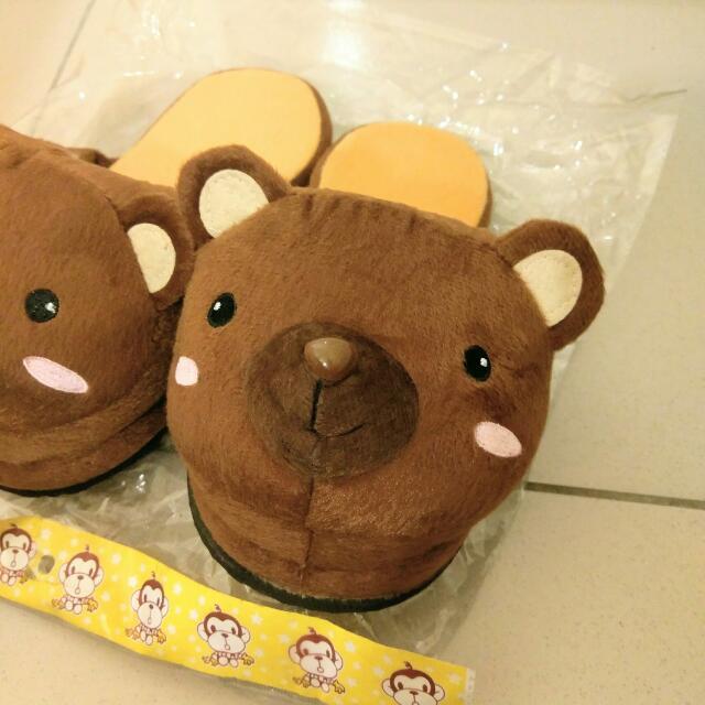 可愛小熊拖鞋一雙
