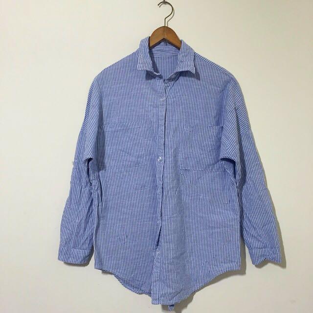 Starmimi 藍白條紋襯衫