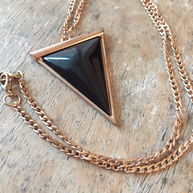 三角形墜飾 項鍊