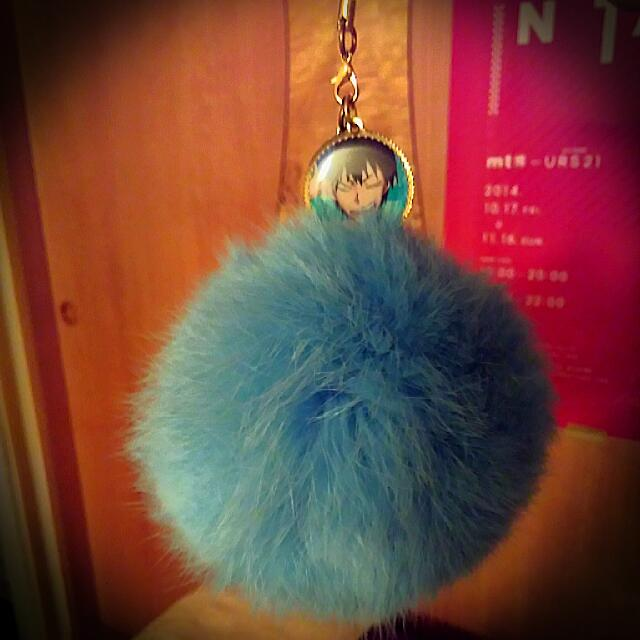 動漫週邊 弱虫 grande road 毛球吊飾 藍綠色/Tiffany綠/湖水藍