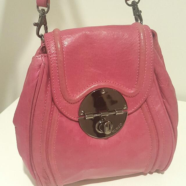 💕 MIMCO Pink Swing Turnlock Bag