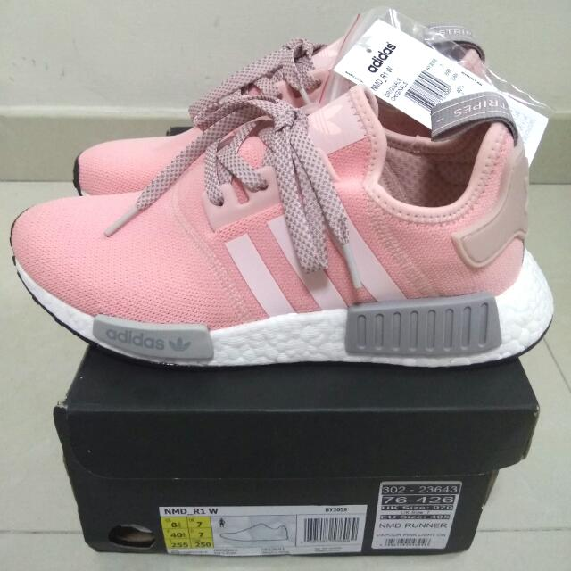 18b3be98ad081 Adidas NMD R1 Womens Vapour Pink Grey