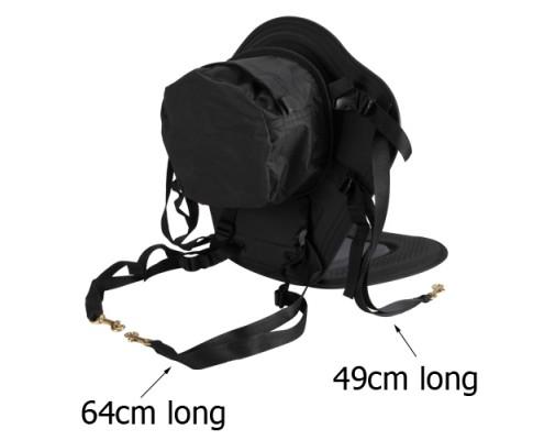 Adjustable Kayak Pedded Seat w/ Bag Grey Black