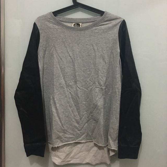 All About Eve Jumper With Leather Sleeves