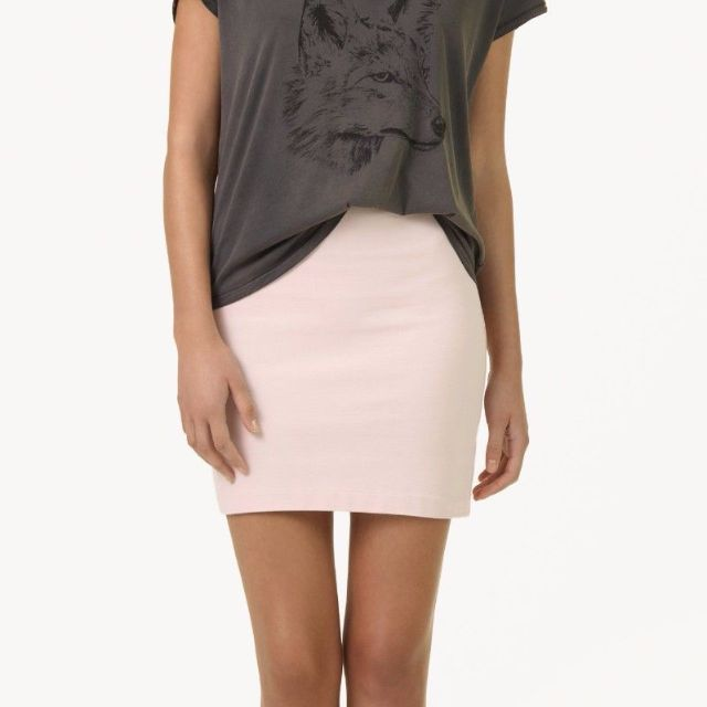 Aritzia Talula Peachy Blush Pink Bodycon Skirt size 4 NWT