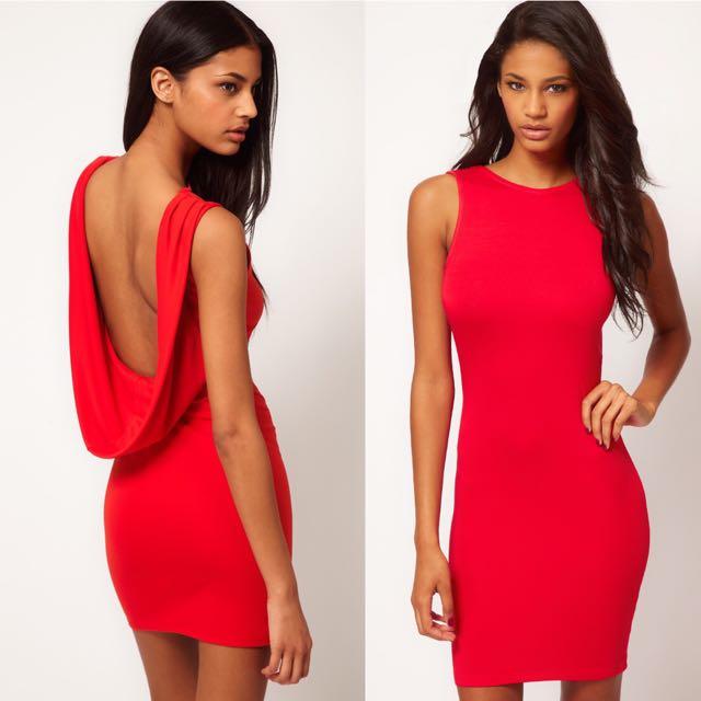 ASOS Midi Cowl Back Dress