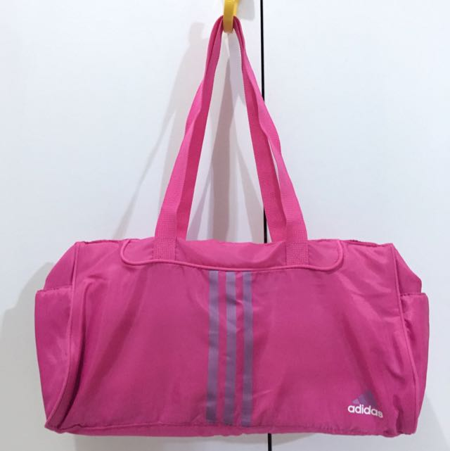 936cb24d6d79 Authentic adidas pink nylon lightweight gym bag