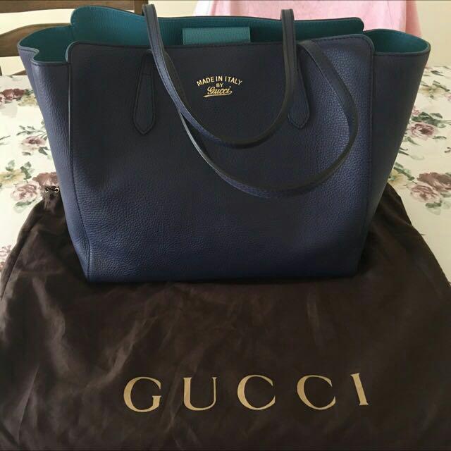 9775e2ecc67262 Authentic BN Gucci Swing Leather Tote, Women's Fashion, Bags ...