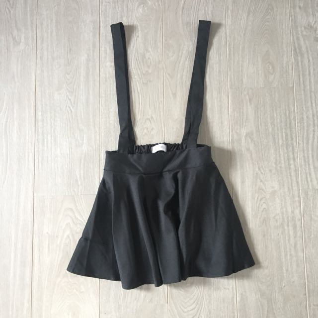 Tokyo Fashion / 東京著衣 | Black Circle Skirt with Attached Suspenders