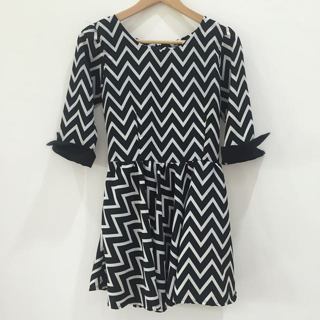 Black-white Chevron Dress
