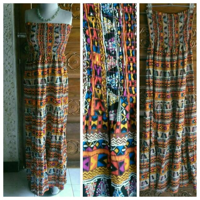 Bohemian Cotton Maxi Dress like Zara Topshop F21 H&M Mango