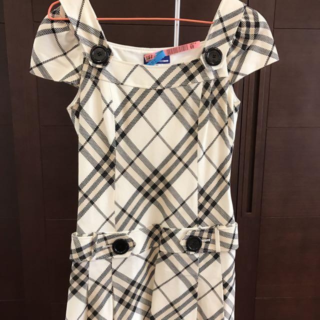 正品Burberry 低腰格子洋裝