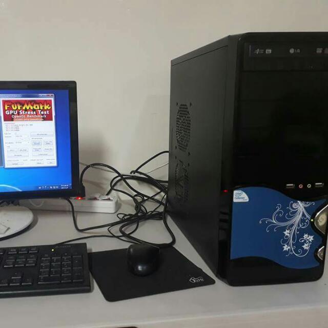 CPU四核心,獨顯1G,文書/遊戲/股票/上網電腦桌機