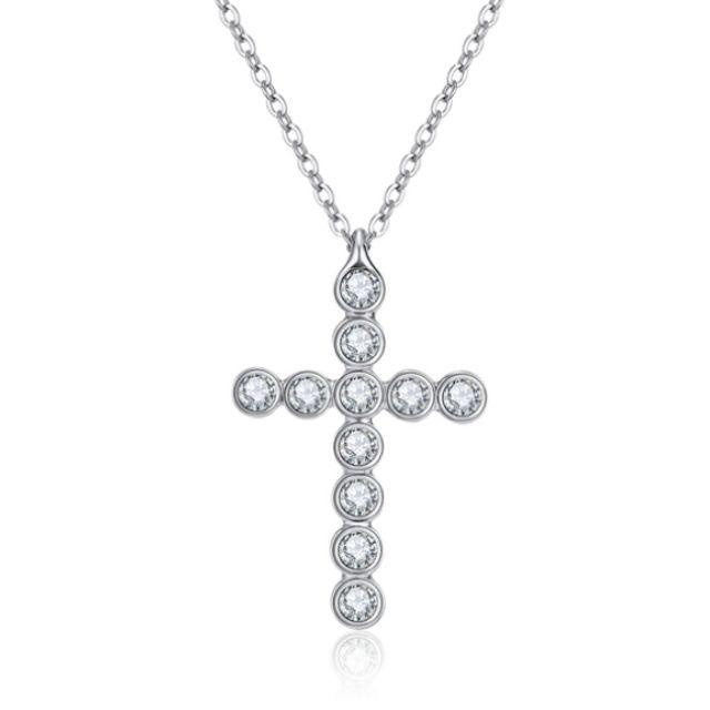 Cross Pendant Necklace Ft Swarovski Crystals Women Jewelry Crystal