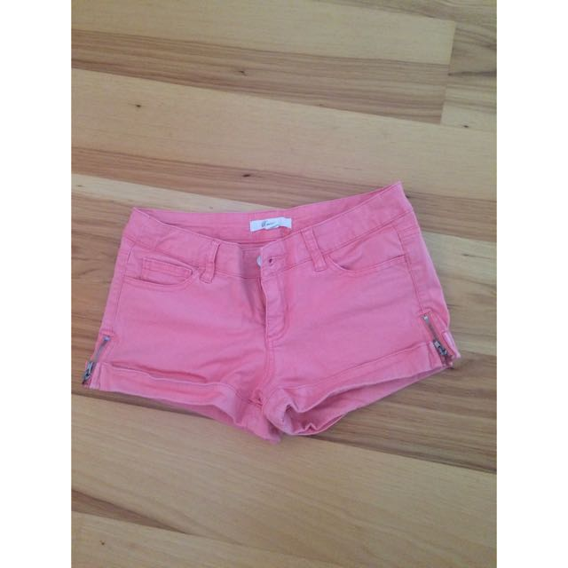 Cute Pink Denim Shorts