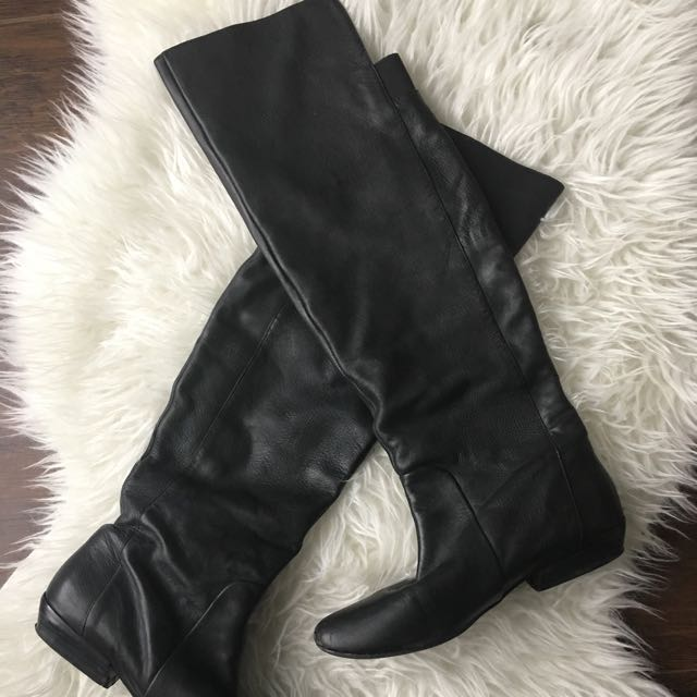 DV Over-the-knee Boots, Black, 9